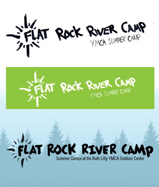 Logo design sketches for YMCA Summer Camp